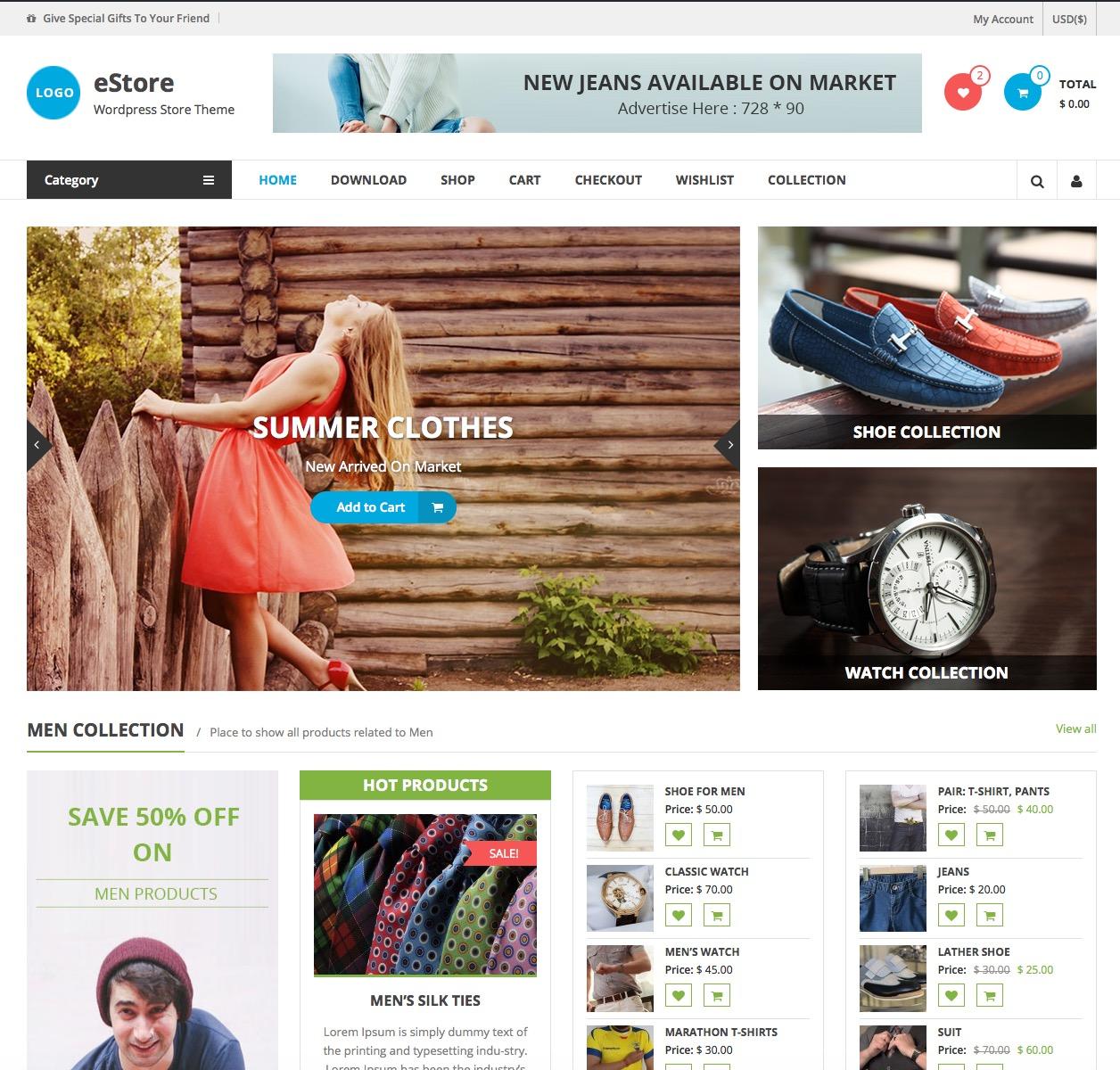 eStore WooCommerce Demo